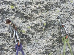 Rock Climbing Photo: Anchor on B.O.F. One bolt is SS, one plated...
