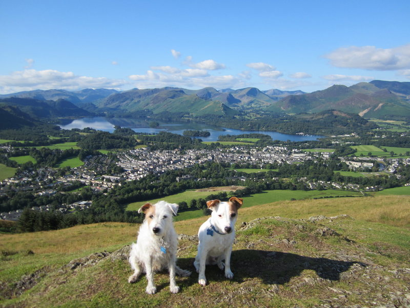 The Town of Keswick and the Borrowdale Valley.12th August 2015