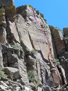Rock Climbing Photo: Perspective: Red = Straighten Up and Fly Right Blu...