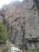 In and Out Urge (left, 5.11b) and Super Size Me (right, 5.11a)