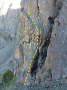 Rock Climbing Photo: Timeless pitch 1
