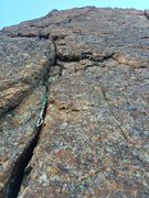 Rock Climbing Photo: Timeless pitch 2 crack
