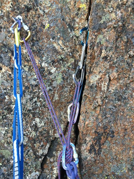 Rock Climbing Photo: Timeless pitch 1 bolt + gear anchor option
