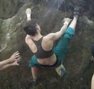 Rock Climbing Photo: bouldering at Merkenstein, Austria, 5b/5c