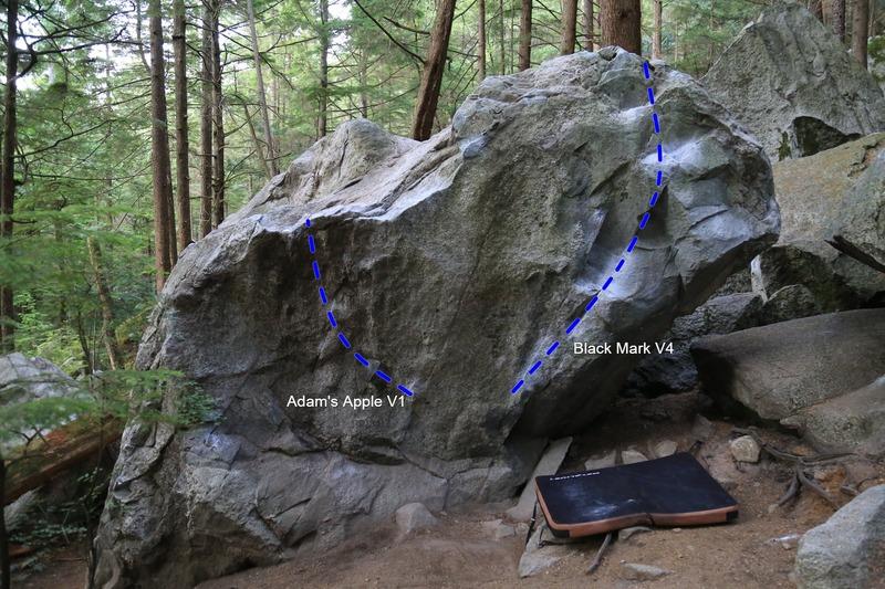 Rock Climbing Photo: The Black Mark boulder