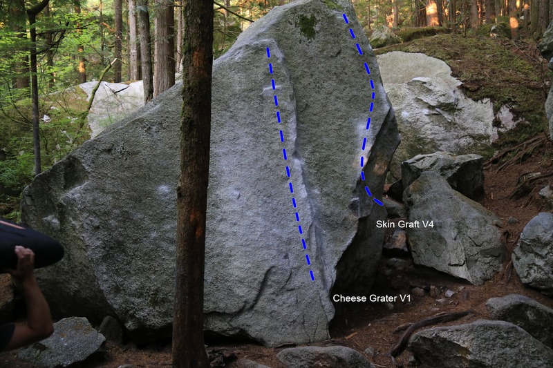 The Cheese Grater boulder