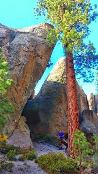 Rock Climbing Photo: Jessica onsighting King Spud (5.11b), Clark Canyon...