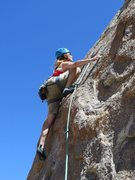 "Rock Climbing Photo: Reaching for more large holds on ""Annie Get Y..."