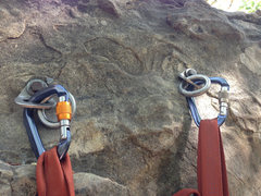 Rock Climbing Photo: These are the anchor bolts for the south face. (08...