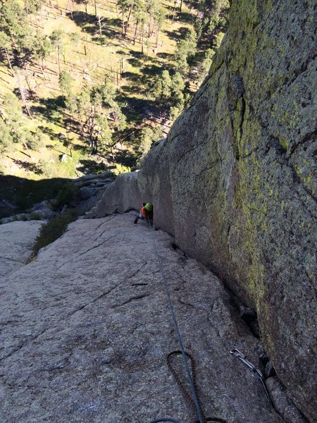 Rock Climbing Photo: 1st pitch of Soler... Sryn is following on this lo...