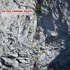 Route Overlay: Pitch detail, SW Face Conness