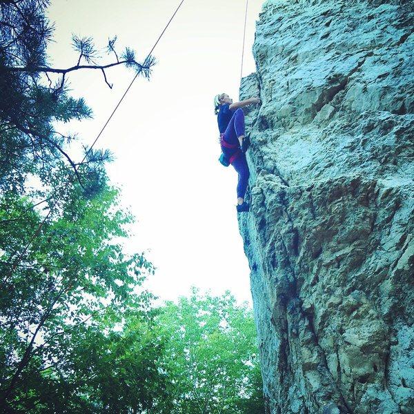 Fun and steep 5.9 arête