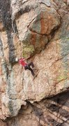 Rock Climbing Photo: Pulling the second roof.  Photo by Eric Fazio-Rich...