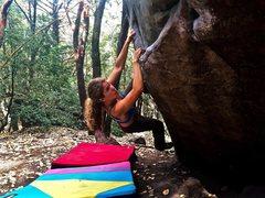 Rock Climbing Photo: Lost Keys Traverse, Castle Rock