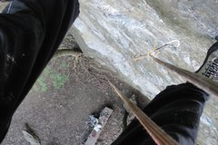 Rock Climbing Photo: looking down from the anchors. What a great climb....