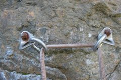 Rock Climbing Photo: Rapping off I notice the anchors are carbon steel ...