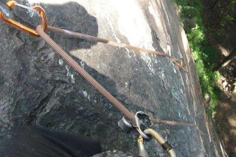 Rock Climbing Photo: Just pass the crux. man that was so much fun..