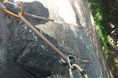 Rock Climbing Photo: Just pass the crux. man that was so much fun..