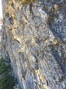 Rock Climbing Photo: chris on vision quest .11c/d. the cove, bowman, ca...