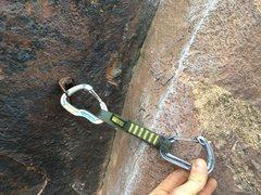 Rock Climbing Photo: Bolt for broken pin (rusty remnant visible directl...