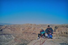 Rock Climbing Photo: Ross and Potter on the summit of the Sphinx with p...