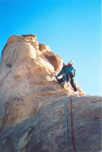 Rock Climbing Photo: Ross starting the first pitch