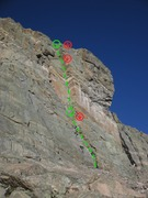 Rock Climbing Photo: Portal's fine dihedral, as seen from below.