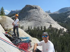 Rock Climbing Photo: Enjoying some sun and slabs at the base of Bunny S...