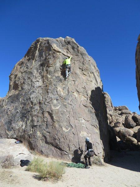 Rock Climbing Photo: Approaching the crux of Tootsie Pop.