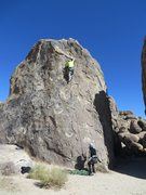 Rock Climbing Photo: Approaching the crux of Tootsie Pop.
