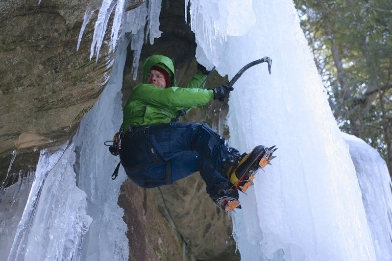 Rock Climbing Photo: Ice climbing at the Red!