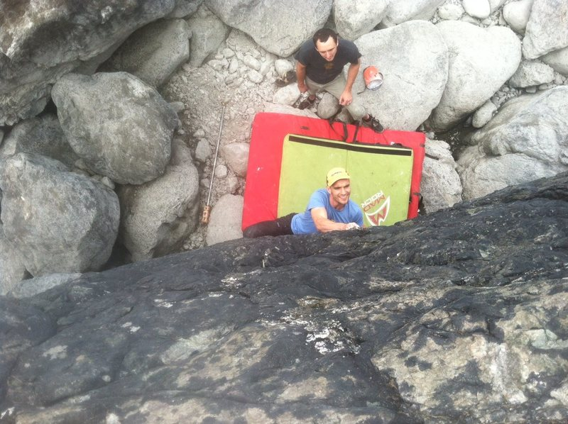 Rock Climbing Photo: Billy looking way too stoked :D