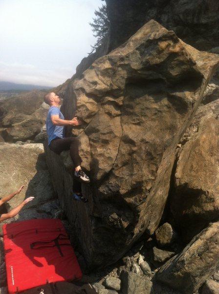 Rock Climbing Photo: Billy flashing it