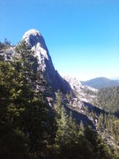 Rock Climbing Photo:  Dike Route, Castle Crag seen from the trail at ba...