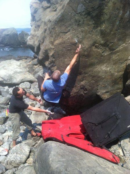 Rock Climbing Photo: Crux move