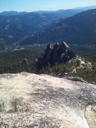 Rock Climbing Photo: Looking down on Six-Toe from the top of the Dike R...