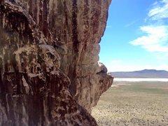 Rock Climbing Photo: Rattler's Arete in Ibex