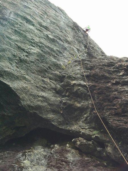 Rock Climbing Photo: full route, @anchor