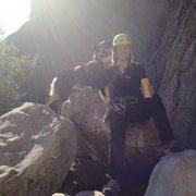 Rock Climbing Photo: Obie and I enjoying a post-climb beer!