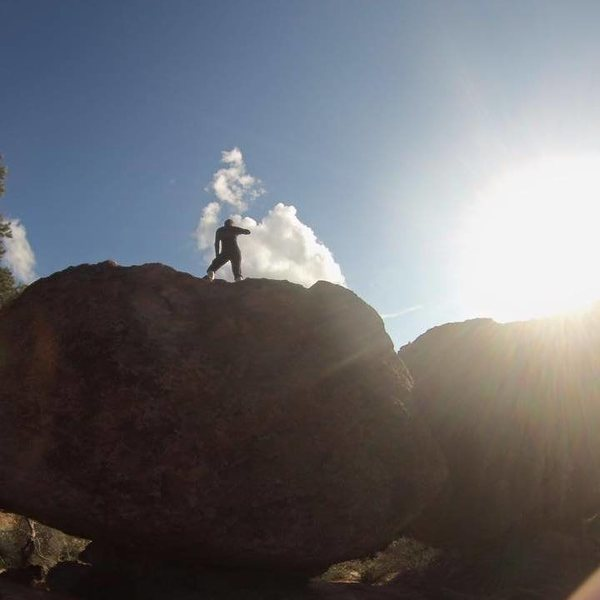 Rock Climbing Photo: Bouldering somewhere around the campground for Eur...