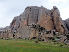 Rock Climbing Photo: The main walls of Steamboat