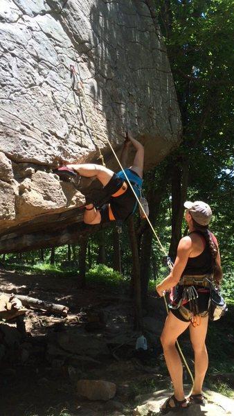 Rock Climbing Photo: Start of Zeke's Didge Dance