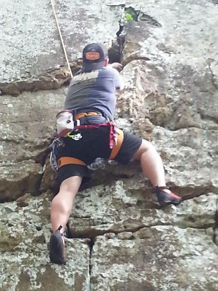 Working the crux section