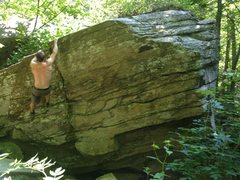 Rock Climbing Photo: The Lip traverses from left to right.  The lip ris...