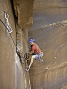 Rock Climbing Photo: Charley Graham follows pitch 3 on the FA of Jinx