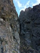 Rock Climbing Photo: A class 4 section along the east ridge