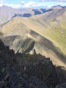 Rock Climbing Photo: looking down the east ridge from about 1/2 way thr...