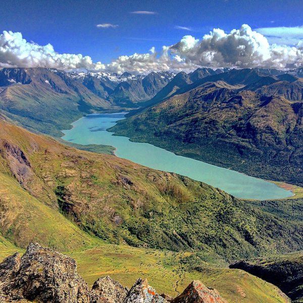 Eklutna Lake area from the ETP summit