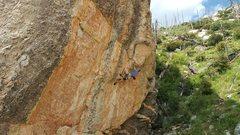 Rock Climbing Photo: Steve Brown on the send.