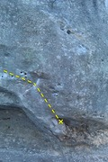 Rock Climbing Photo: Senor Fuerte line